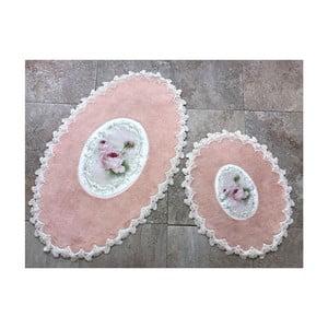 Sada 2 kúpeľňových predložiek Alessia Inci Oval Powder