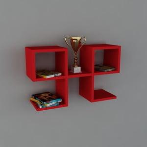 Polica Vita Book Red, 22x65,4x40 cm