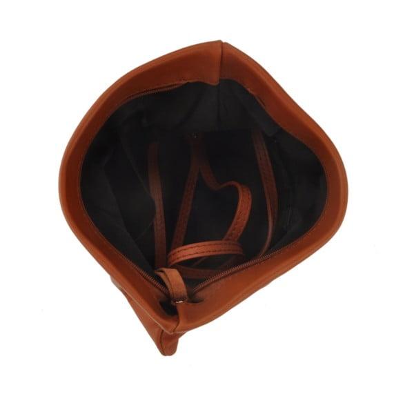 Kožená kabelka Castor, hnedá