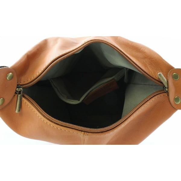 Kožená kabelka Crisana Cognac