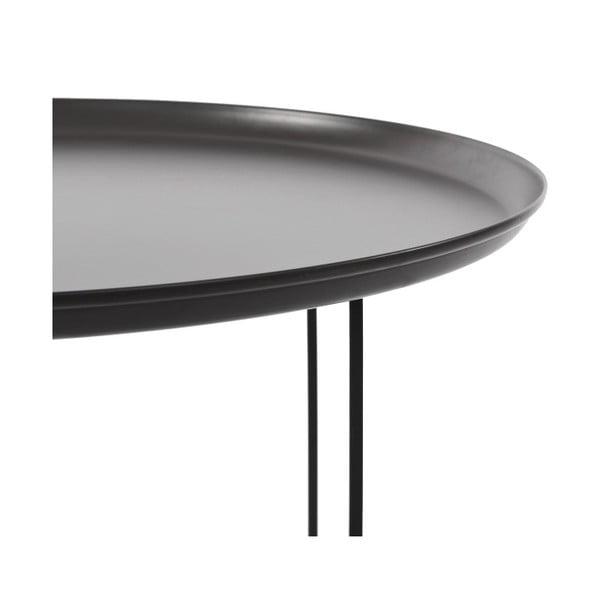 Čierny veľký odkladací stolík NORR11 Duke