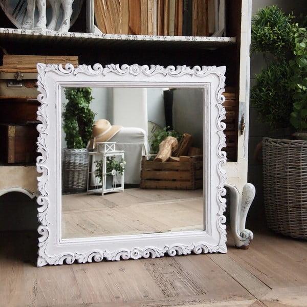 Zrkadlo Orchidea Antique White, 70x70 cm