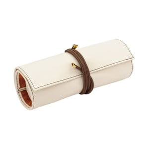 Šperkovnica Ascot Roll Ivory White, 20x8x6 cm