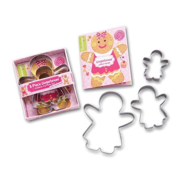 Sada 3 vykrajovadiel Cooksmart England Gingerbread Girl