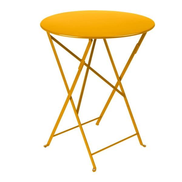 Žltý skladací kovový stôl Fermob Bistro