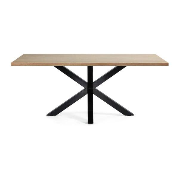 Jedálenský stôl s čiernou podnožou La Forma Arya Natural, dĺžka 200cm