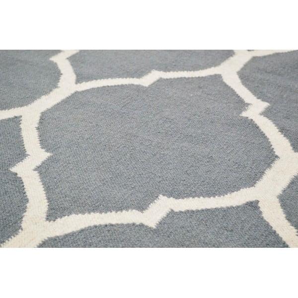 Ručne tkaný koberec Lara Grey, 140 x 200 cm