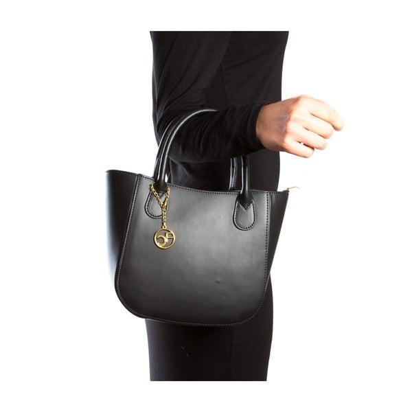 Kožená kabelka Coci, čierna