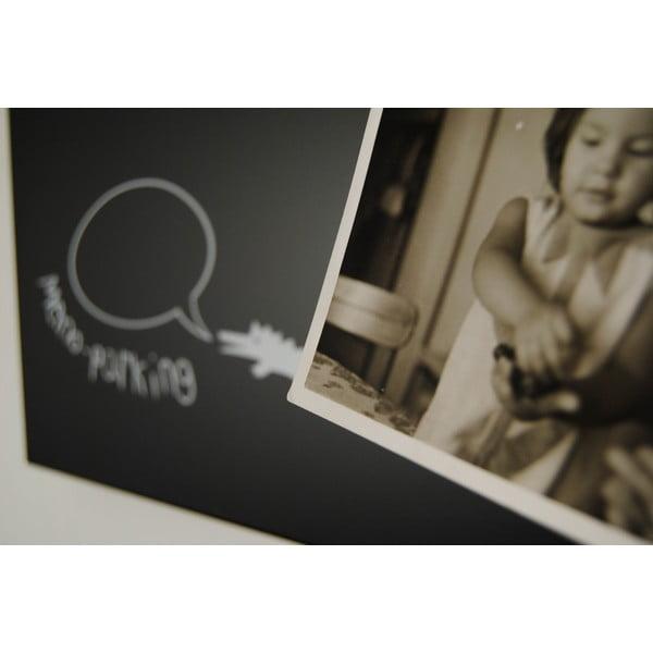 Magnetický kalendár Krok Black, 100x30 cm