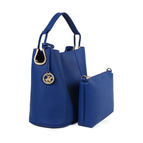 Modrá kabelka z eko kože Beverly Hills Polo Club Rita