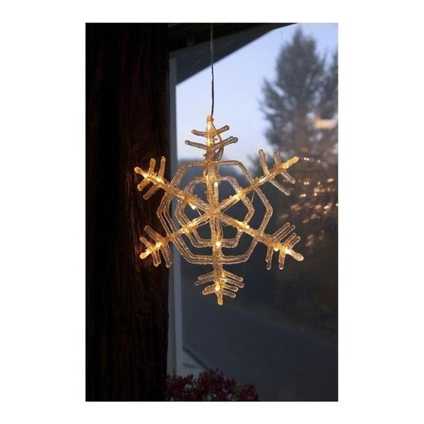 Závesná svietiaca hviezda Best Season Crystal Snowflake, 30 cm