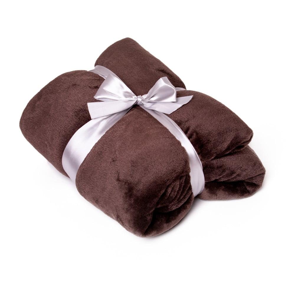 Hnedá deka Tarami, 200 × 150 cm