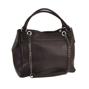 Tmavohnedá kožená kabelka Florence Bags Meissa