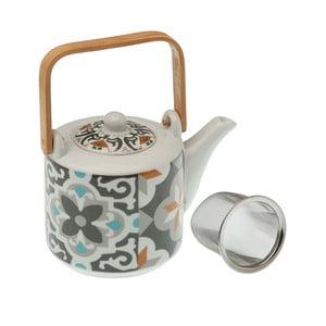 Čajová kanvička z porcelánu so sitkom Versa Floralism