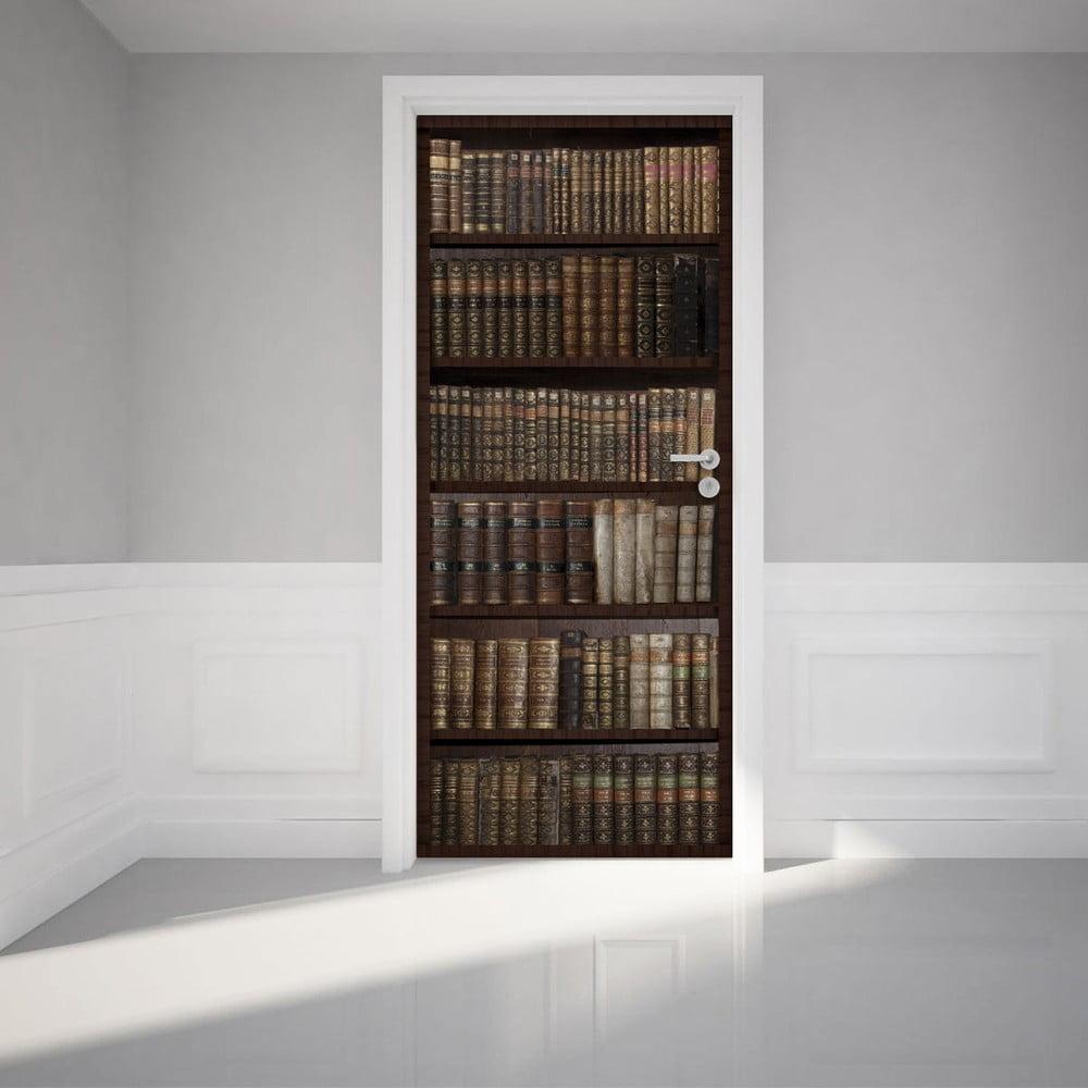 Adhezívna samolepka na dvere Ambiance Bookshelf