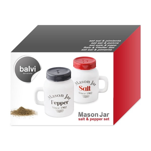 Set soľničky a koreničky J-Me Mason Jar