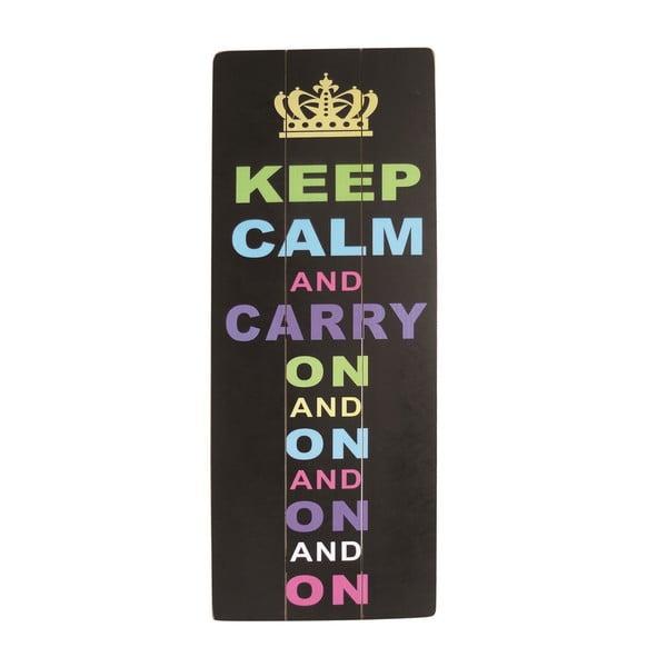 Závesná ceduľa Keep Calm, 80x30 cm