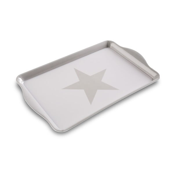 Tácka White & Grey Star