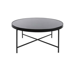 Čierny konferenčný stolík Leitmotiv Smooth XL, 82,5×40cm