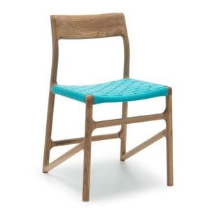 Stolička Fawn Natural Gazzda, modrá