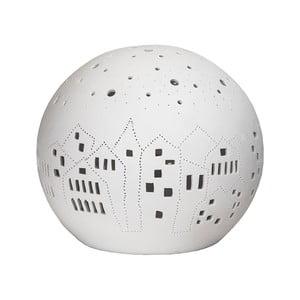Biela stolová lampa Globen Lighting Village, ø 18 cm