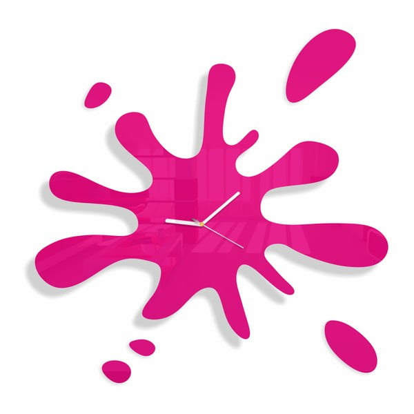 Hodiny z plexiskla Splash Pink