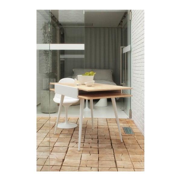 Rozkladací stôl Slide White, 80x75 cm