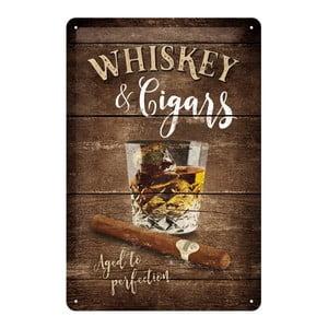 Plechová ceduľa Whiskey, 20x30 cm
