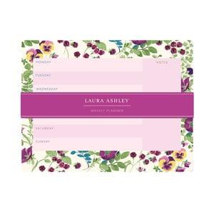 Týždenný plánovač Laura Ashley Parma Violets by Portico Designs, 54 strán