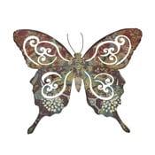 Kovový motýľ na stenu, 34 cm