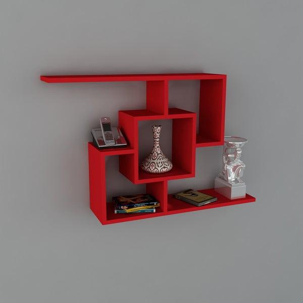 Polica Samara Book Red, 22x100x64 cm