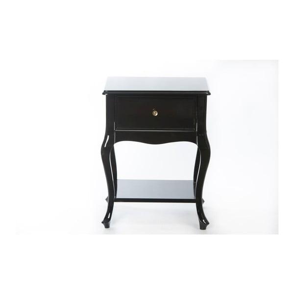 Odkladací stolík Purl Black, 44x33x60 cm