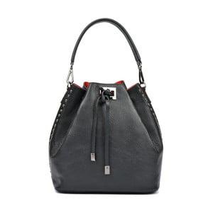 Čierna kožená kabelka Renata Corsi Carmenna Lento