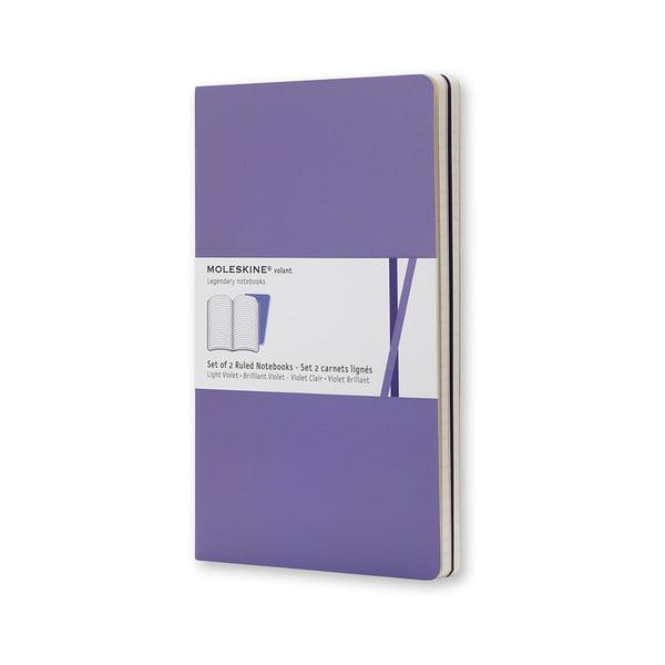 Sada 2 notesov Moleskine Purple, linkovaný 9x14 cm