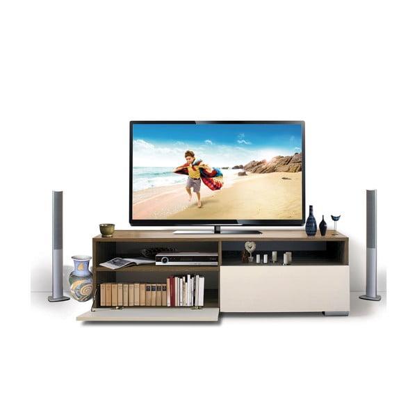Televízny stolík Deco, biely/samba