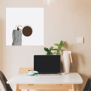 Nástenný samolepiaci obraz North Carolina Scandinavian Home Decors Coffee, 30×30 cm