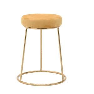 Žltá stolička InArt Velvet Society, výška 55 cm