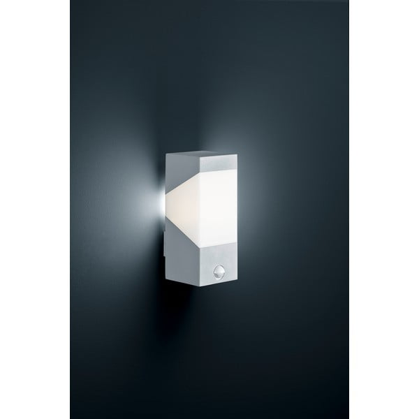 Záhradné nástenné svetlo s pohybovým čidlom Rio Titanium, 25 cm