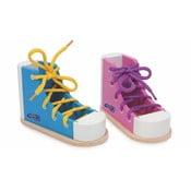 Sada 2 topánok na trénovacie viazania šnúrok Legler Coloured
