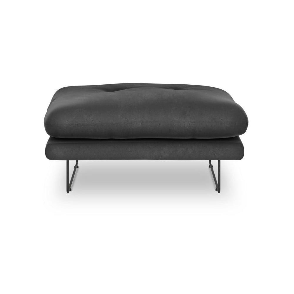 Tmavosivý puf so zamatovým poťahom Windsor & Co Sofas Gravity