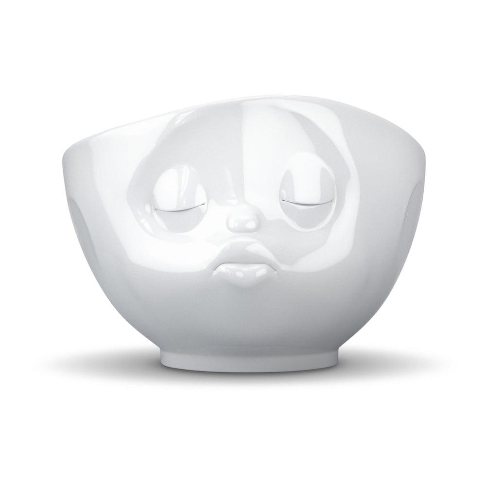 Biela porcelánová bozkávajúca miska 58products
