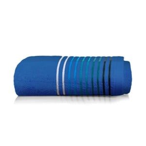 Modrý bavlnený uterák Maison Carezza Linea, 50×90 cm