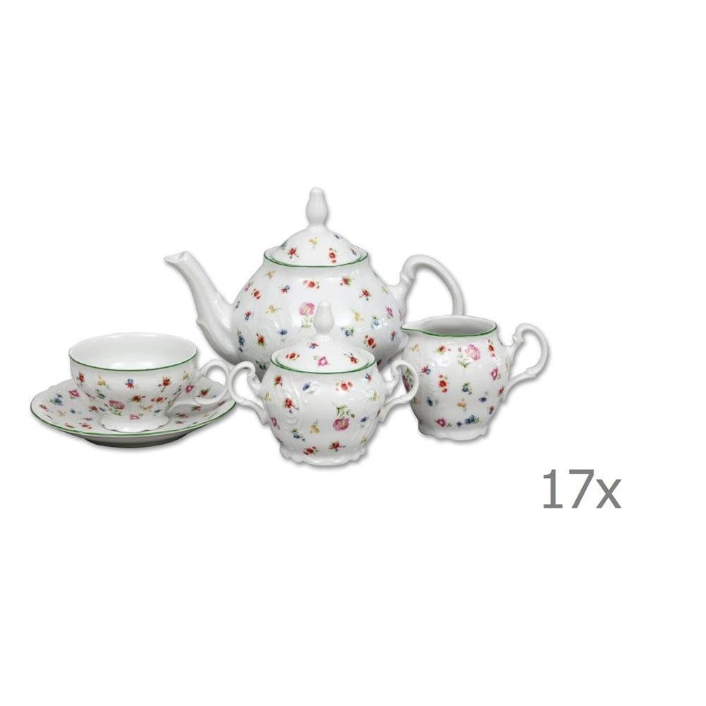 Porcelánová súprava na čaj s motívom kvetín Thun Bernadotte