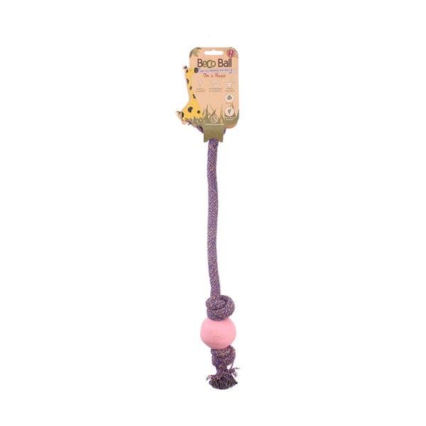 Povraz s loptičkou na hranie Beco Rope 40 cm, ružový