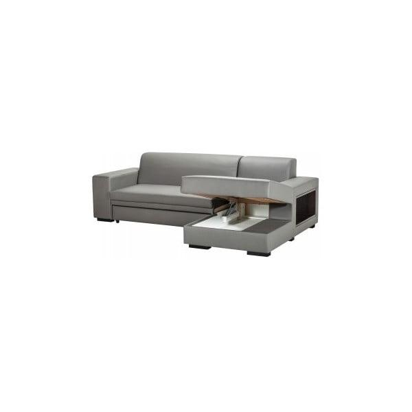 Rozkladacia pohovka A-Maze s úložným priestorom 245 cm, sivá, pravá strana