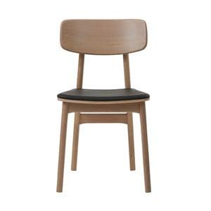 Jedálenská stolička z dreva bieleho duba Unique Furniture Livo