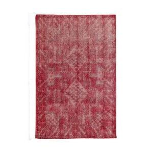 Červený ručne viazaný vlnený koberec LinieDesign Sentimental,140x200cm