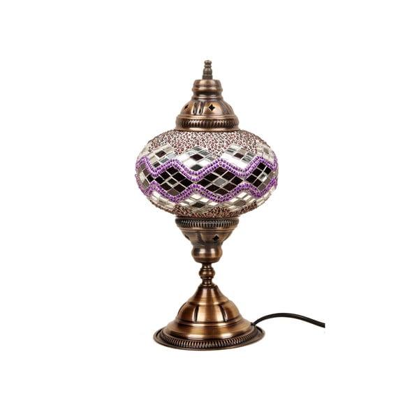 Sklenená ručne vyrobená lampa Hades, ⌀ 17 cm
