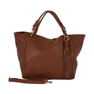 Hnedá kabelka z pravej kože Andrea Cardone Gemma Star