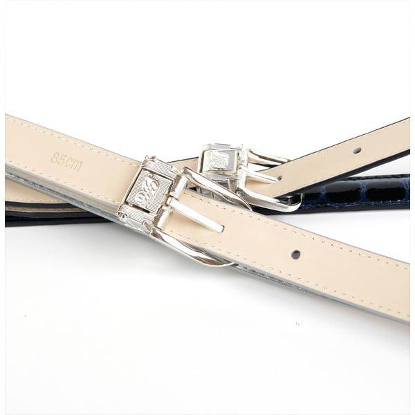 Dámsky kožený opasok 13T90 White, 90 cm